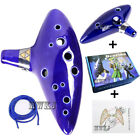 12 Hole Legend of Zelda Ocarina of Time Alto C Flute Ceramic Instrument&amp;Gift Box <br/> USA Shipping -Ocarina+Music Book+Box -Perfect Xmas Gift
