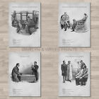 Sidney Paget / Sherlock Holmes A4 canvas paper / poster prints. Conan Doyle.