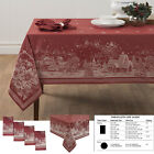 Christmas Story Tablecloth Winter Home HighQuality Holiday Jacquard Fabric Décor