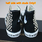 Genuine CONVERSE All-star with studs Sneakers Sheos Black half-side with studs