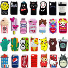 2017 3D Cartoon Soft Silicone Phone Case Rubber Cover For iPhone X 5 6 7 8 Plus $4.79  on eBay