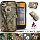 Heavy Duty Camo Rugged Phone Cover For iPhone 4 4s Case Clip Holster Hunters