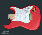 Load.Strat Rep.Body Fiesta Red Kinman Hank MarvinTrem Gotoh GE101T Gold WPearl