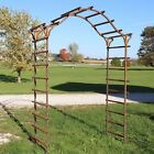 Metal Patterson Garden Arbor Structure For Flowers And Vines