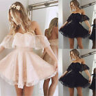 Us Fashion Women Lace Short Dress Prom Evening Party Cocktail Bridesmaid Wedding