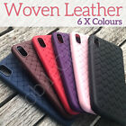 Luxury 3D Platted Woven Leather Effect Case Cover for iPhone 6 6s 7 8 Plus X