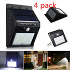 Solar Powered Wall Mount 20 LED Light Outdoor Garden Path Landscape Yard Lamp US