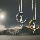 Moon Cat Cute Animal Necklaces Pendant Simple Necklace Women Fashion Jewelry image