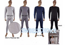 100% cotton 2pc mens thermal underwear set,Light Gray,Long John's,M,L XL,2XL,NEW