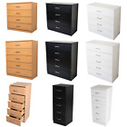 Chest of Drawers Bedroom Furniture. Tall Storage Units. White, Black, Beech Oak