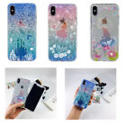 Cartoon Princess Soft Rubber Embossed Cell Phone Cover Case For Apple iPhone X