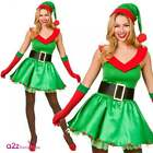 Santas Sexy Lil' Helper Costume Adult Ladies Christmas Festive Elf Fancy Dress