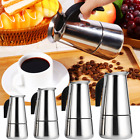 Stainless Steel Percolator Moka Pot Espresso Coffee Maker Stove Home Office Use