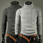 FAST Winter Men Knitted Roll Turtle Neck Pullover Jumper Knitwear Woolen Sweater