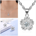 Uk Luxury Pearls S925 Silver Jewellery Set Free Gift Bag/ Boxes