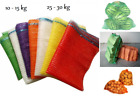 Net Woven Sacks With Drawstring Raschel Bags Mesh Vegetables Logs Wood Garden!!!