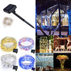 10M/20M 100-200LEDs Waterproof Outdoor LED Solar Copper Wire String Lights Decor