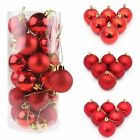 48Pcs Christmas Ball Ornaments Xmas Tree Decorations Shatterproof Baubles+Hooks