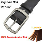Big Tall Size S-8XL Durable Belts for Men Retro Style 100% Genuine Leather Belt