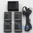 Replacement For GoPro AHDBT-301 201 Battery  Dual Charger For GoPro Hero 3 3