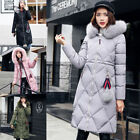 Women Ladies Winter Coat Hooded Long Parka Casual Jacket Thicken Lining with Fur