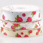16mm 5/8 in. 25mm 1 in. Bertie's Bows rose flowers shabby chic grosgrain ribbon