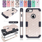 Hybrid Shockproof Heavy Diamond Studded Silicone Case Cover For iPhone 6 6s Plus