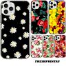Case Cover Silicone Cute Flowers Floral Daisy White Yellow Pattern Roses Tulips