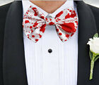 Blood Spatter Bow Tie Accessory bowtie Tux Suit Prom Groom Horror Cosplay