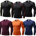 Men's Compression Running Tops Plain Wicking Skin Base Layers Jersey Quick-dry