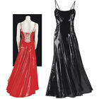 Women STUNNING RED PVC BALL GOWN Corset Back Halloween Costume Dress Leg Avenue