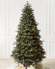 BALSAM HILL - Saratoga Spruce Tree- 7 ft ,CLEAR LIGHTS / Candlelight LED