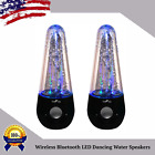 Wireless Bluetooth LED Dancing Water Speakers w 6ft USB Cable + 6ft Aux Cord LOT