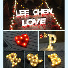 Christmas Romantic LED Light Marquee Letter Alphabet Symbol Lights Wedding Party