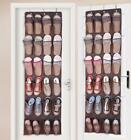 24 Pocket Over the Door Shoe Organizer Hanger Rack Hanging Storage Space Saver