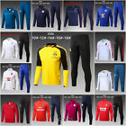 Kids Boys Soccer Tracksuit Football Sportswear Shirt TopBottom Training Suit