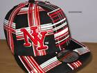 NY FUNK BLACK FITTED CAP HAT, NY FLAT PEAK HIP HOP BNWT, MENS, LADIES PREMIUM