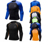 Mens Compression Tops Workout Athletic Running Base Layers Long Sleeve Crew-neck