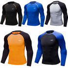 Mens Compression Top Running Cycling Athletic Skin Base Layers Quick-dry Jersey