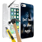 Dont Touch My Phone Muggle Design Case + Glass For Various Mobile Phones - 027