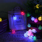 SOLAR LIGHTS Garden Outdoor STRING FAIRY 30 LED Globe Ball Waterproof 4 COLORS