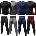 Men's Compression Sets Athletic Running Basketball Plain Tops Tights Base Layers