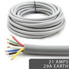 *29Amp Heavy Duty Earth 21 AMP Rated* 7 Core Cable Wire Caravan Trailer Lights