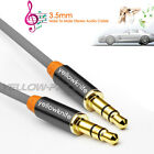 Gold 3.5mm AUX AUXILIARY CORD Male to Male Stereo Audio Cable for PC MP3 CAR US