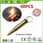 40PC Portable Safety Permanent Match Keychain Lighter Stainless Steel Lighters~H