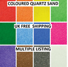 New 18 Coloured Quartz Sand Artists Children's Crafts Wedding Floristry Aquarium
