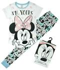 Womens Official Disney Minnie Mouse I'm Yours Gift Pyjamas Plus Sizes 8 to 22