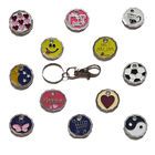 NEW SHAPE Shopping Trolley Token £1 Coin Pound KeyRing Clasp Supermarket Locker