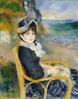 Auguste Renoir By the Seashore Painting Picture Fine Art Re-Print A3 A4