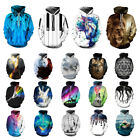 Couples Hoodie 3D Graphic Print Long Sleeve Sweatshirt Pullover Jacket Coat Tops